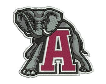 Alabama Crimson Tide Embroidery Design #1 - 5 SIZES