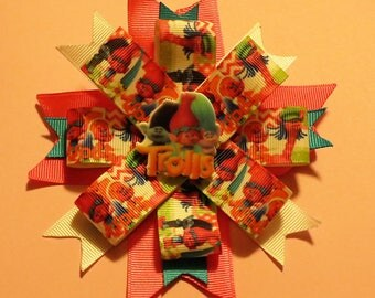 Girl's Colorful Trolls Bow