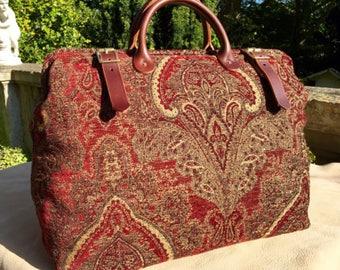 Weekender, Overnight, Carry on 'Carpet Bag'