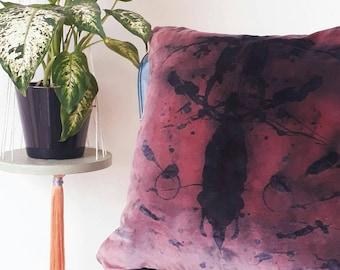 Hand printed Rorschach test Velvet Cushion/pillow