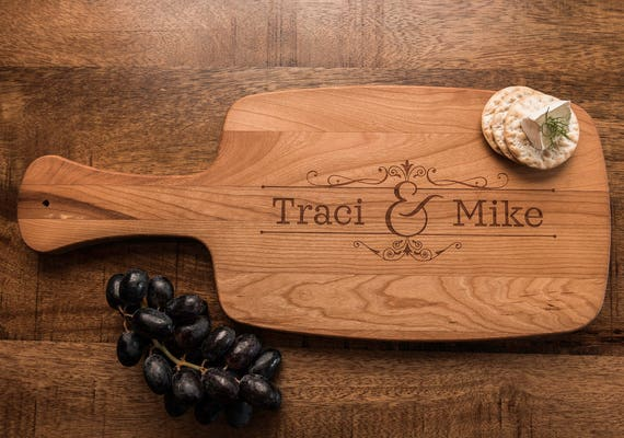 Personalized Cheese Board, Charcuterie, Custom Engraved Cutting Board, Gift for Couple, Engagement Shower Wedding Anniversary Housewarming