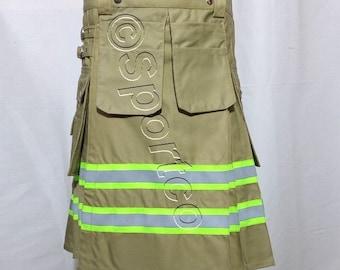 Khaki Bunker Gear Firefighter Kilt