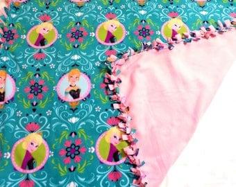 Elsa and Anna Blanket - Elsa and Anna Decor - Girls Toddler Bedding - Elsa and Anna Birthday Party - Girls Fleece Blanket - Disney Birthday