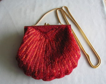 90's Red Sequin Special Occassion Purse