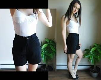 Leather Shorts / High Waisted Shorts / Vegan Leather / High Waist Shorts / Suede Shorts / 90s Grunge / High Rise Shorts / Fitted Shorts