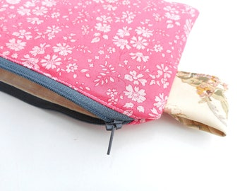 free shipping ,Liberty  of London pouch , purse , storage case , pencil case , toiletry purse ,clutch