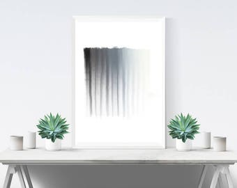 Art Print - Wall Art - Abstract Art Print - Black and Grey Wall Art - Minimalist - Home Decor - Modern Decor - Paint Scale