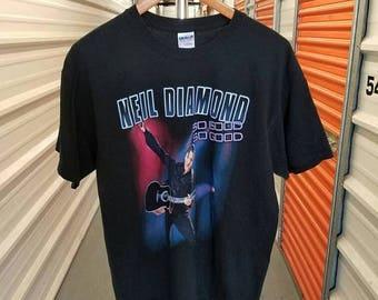 Summer Sale 10% Neil Diamond So Good World Tour Concert T-Shirt. Men's Size Large.