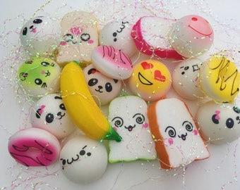 SLOW RISING SQUISHIES! Mini Random Kawaii 3Pc Soft High Quality Squishies Stress Relieving Cheap!