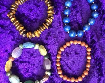 stretchy bracelets / Genuine gemstone