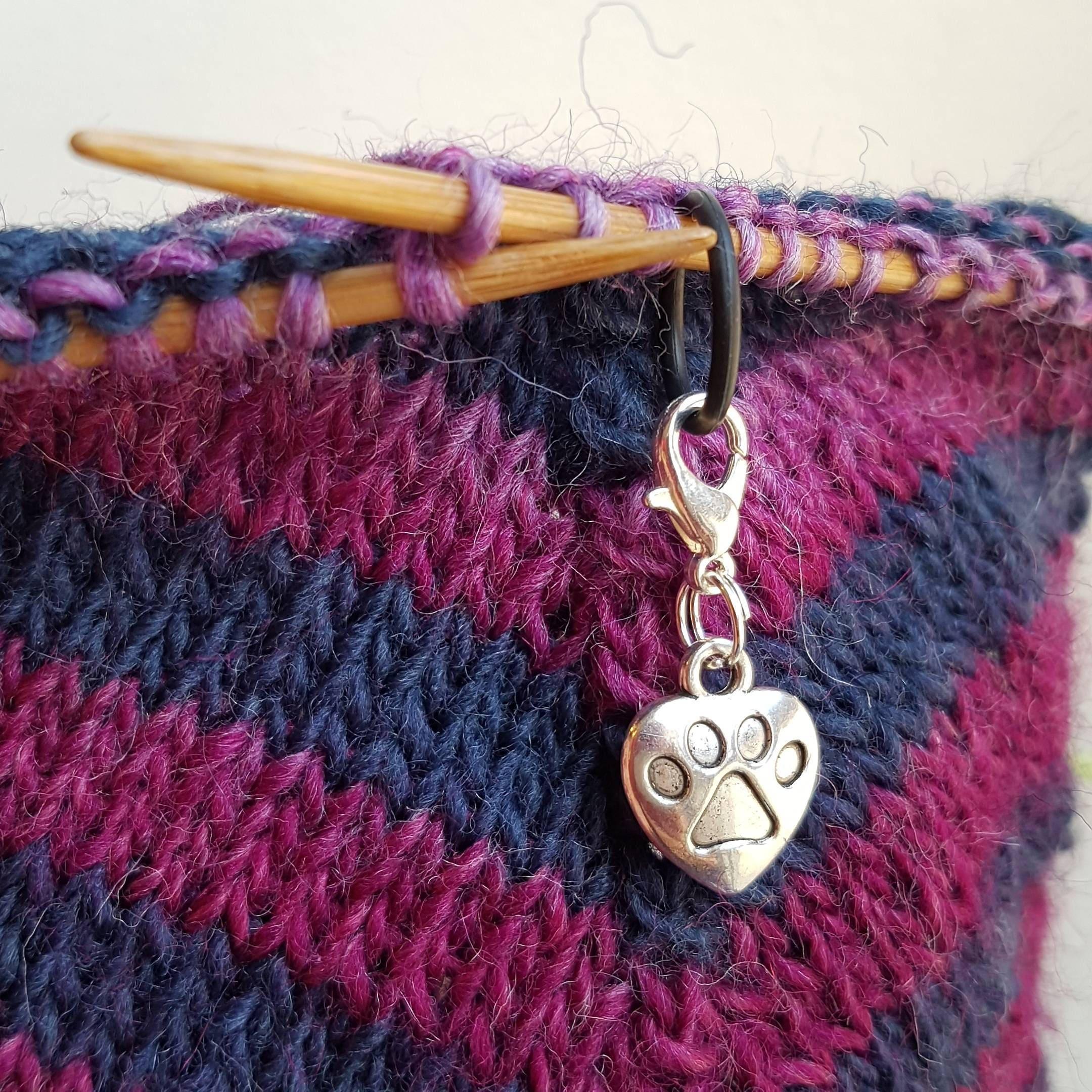 Cat Lady Knitting : Cat paw gift charm knitting stitch marker best lady