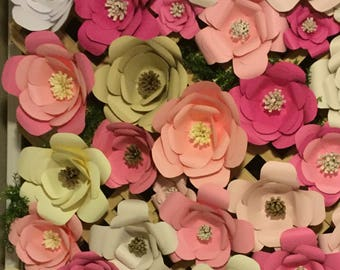 Custom made single paper flowers