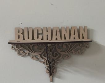 Personalized Wooden Family Name Shelf