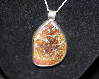Hand made Boulder Opal pendant from Australia