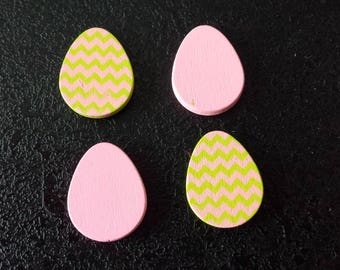 Pink wooden eggs