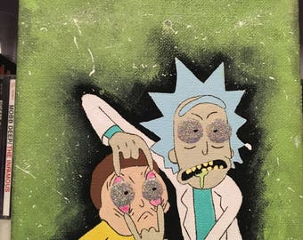 Rick and Morty Painting Canvas