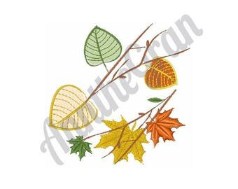 Fall Leaves - Machine Embroidery Design