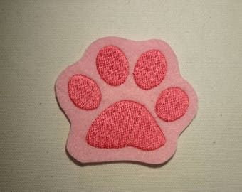 Paw Print Emoji   ~ Embroidered Patch ~ Iron-On Sew-On