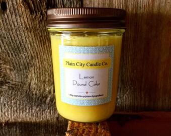 Lemon Pound Cake 8oz Soy Wax Candle