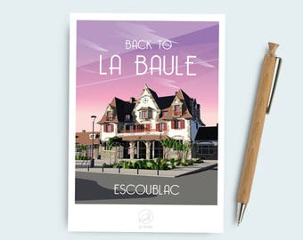 The Baule postcard
