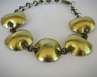Brass Dot Chain Bracelet