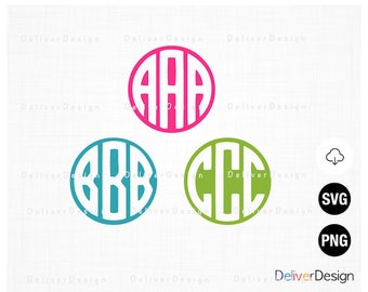 Circle Monogram Font, Monogram Letters, Alphabet SVG, PNG Files