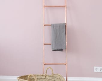 Copper conductor ladder Copper industrial design industrial rosegold industry wardrobe towel old bathroom towel