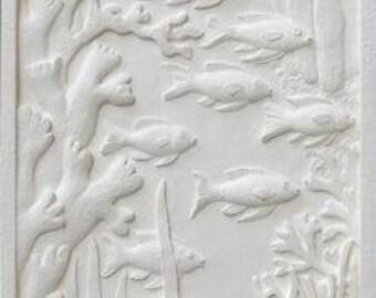 Sculpture wall School of fish