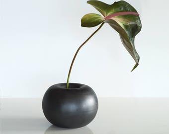 Black Vase  [ Flower Vase, Ikebana Vase, Modern Vase, Abstract Vase, Minimalist Vase ]