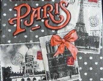 Paper towel souvenir of Paris
