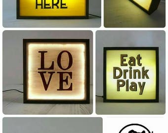 Rustic Light Boxes