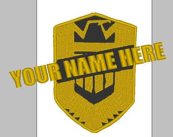 Custom Judge Dredd Name Patch