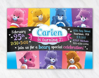 Care Bears Invitation for Birthday Party - Printable Digital File