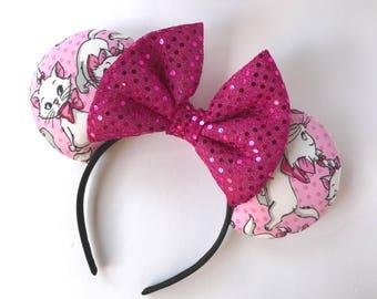 Marie ears, Marie the cat ears, lady cat ears, Aristocats