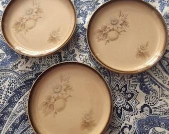 Set of 6 Vintage Denby Sideplates in Memories Pattern