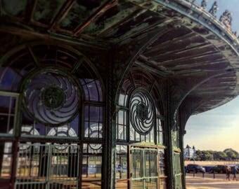 Abandonded Carousel Print