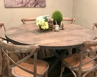 Round Reclaimed Dining Table