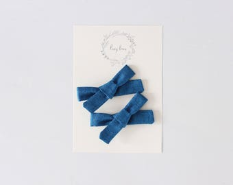 Pigtail set | denim blue