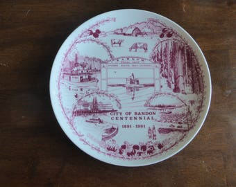 Bandon Centennial Collector Plate by Ned F. Reed