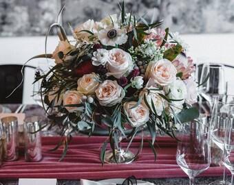 Velvet tablecloth | Velvet table runner | Pink Wedding | Velvet linen | Wedding Table Decor | Velvet table Linen | pink runner | wedding