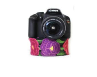 Hand-Embroidered Vibrant Camera-Strap