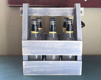 Beer Gift - Beer Caddy - Beer Caddy and Opener - Beer Holder - Gifts for Him - Beer Lover - Groomsmen Gift - Man Gifts - Husband Gift