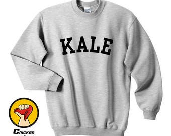 Kale shirt - kale shirt, tumblr shirts instagram shirt funny shirts kale print hipster Top Crewneck Sweatshirt Unisex More Colors XS - 2XL