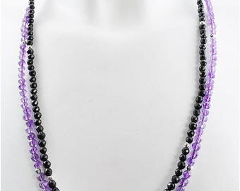 Necklace harmony onyx faceted