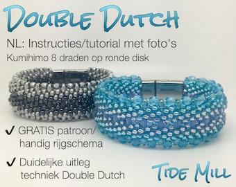 Kumihimo Tutorial Techniek Double Dutch met GRATIS patroon