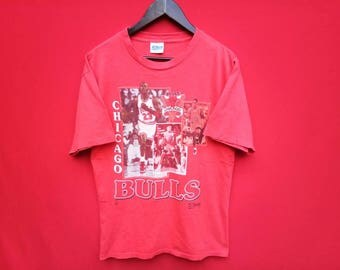 vintage Chichago bulls micheal jordan basketball team t shirt