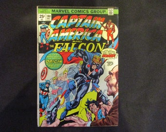 Captain America and The Falcon #180 (Into/Origin of The Nomad) Marvel Comics 1974