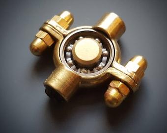 Fidget Spinner Metal Handmade Brass
