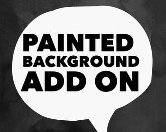 Add a Painted Backboard