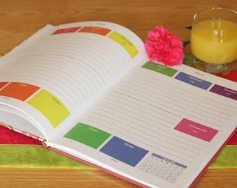Weekly planner 2018 - #20 - Agenda hebdomadaire - All colors - Imprimé - Samainier - Livre couleur